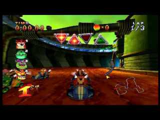 Fake Crash in Crash Nitro Kart